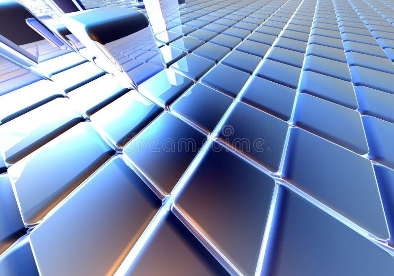 Cubos infinitos ilustração stock