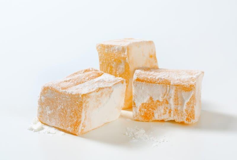 cubos Mástique-flavored da geleia (loukoum grego) fotografia de stock