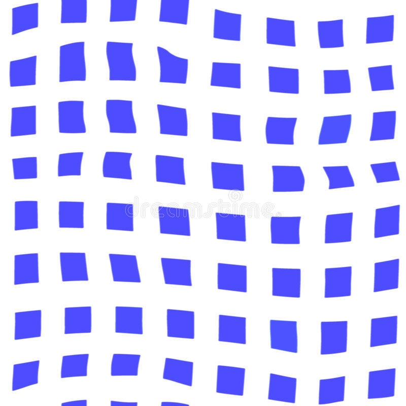 Cubos ondulados ilustração stock