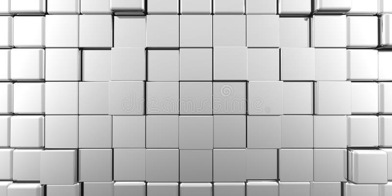 Cubos panorâmicos abstratos ilustração royalty free
