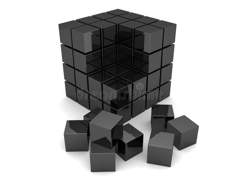 Cubos pretos ilustração royalty free