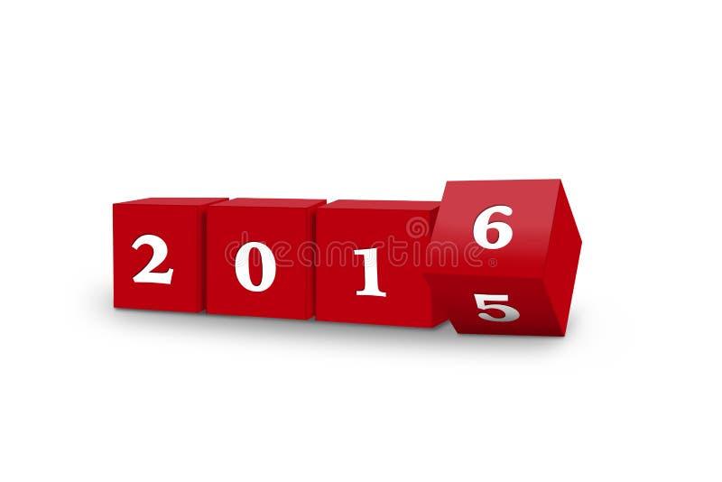 Cubos que giram 2016 ilustração do vetor