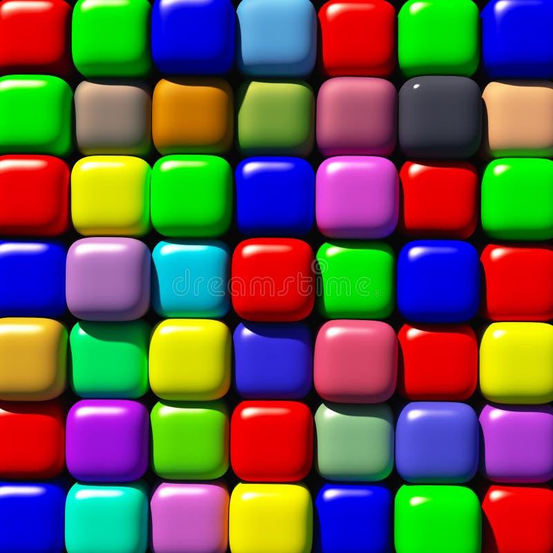 Cubos redondos de los bordes ilustración del vector