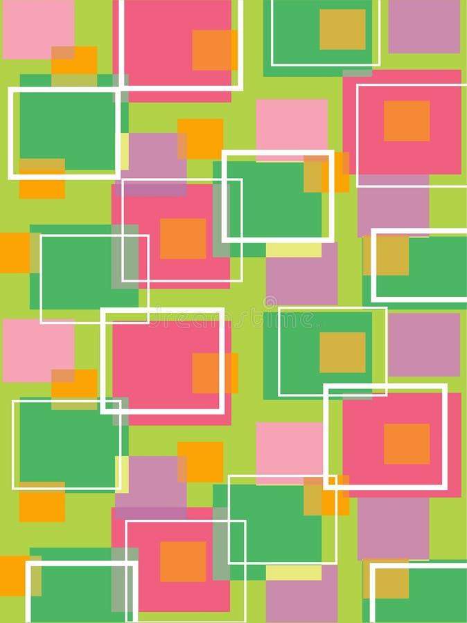 Cubos retros verde e cor-de-rosa do divertimento ilustração royalty free