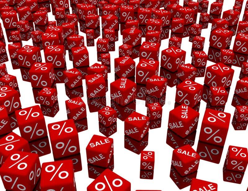 Cubos rojos ilustración del vector
