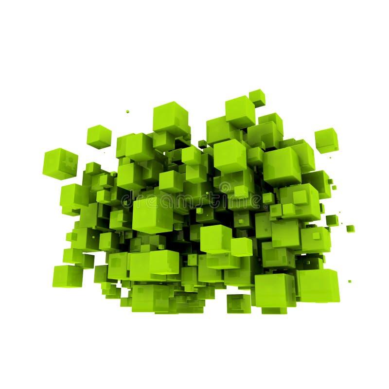 Cubos verdes ilustração do vetor