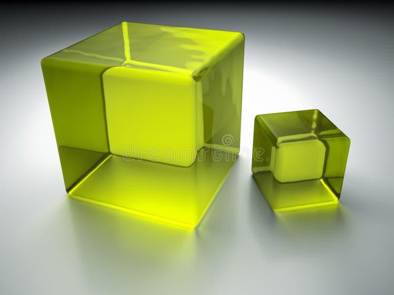 Cubos verdes ilustração stock