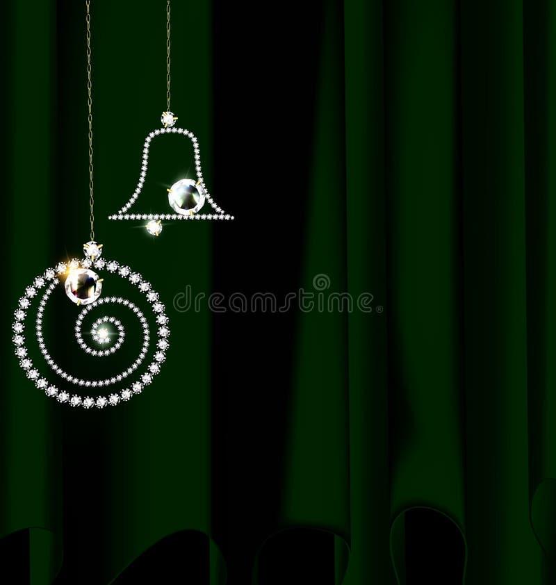Cubra con la decoración de la Navidad de la joya libre illustration
