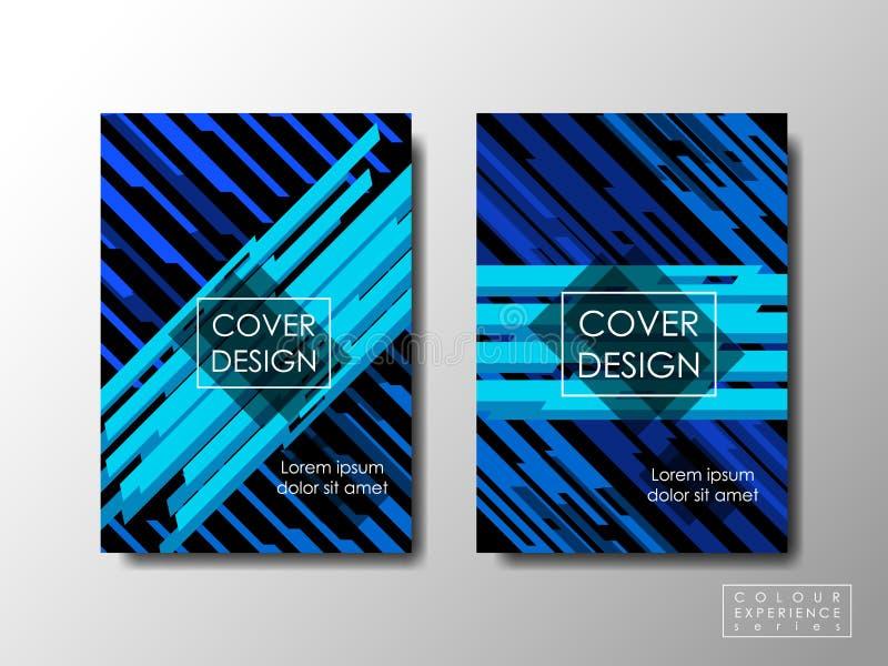 Cubra el diseño con el color azul del contraste, fondo del vector, documento editable libre illustration