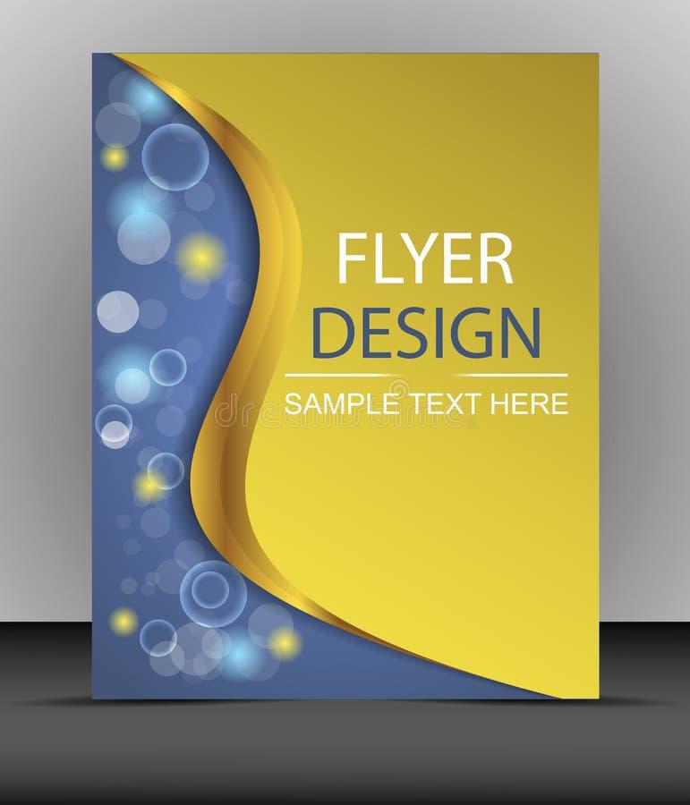 Cubra el diseño, plantilla del aviador del negocio, carpeta ilustración del vector