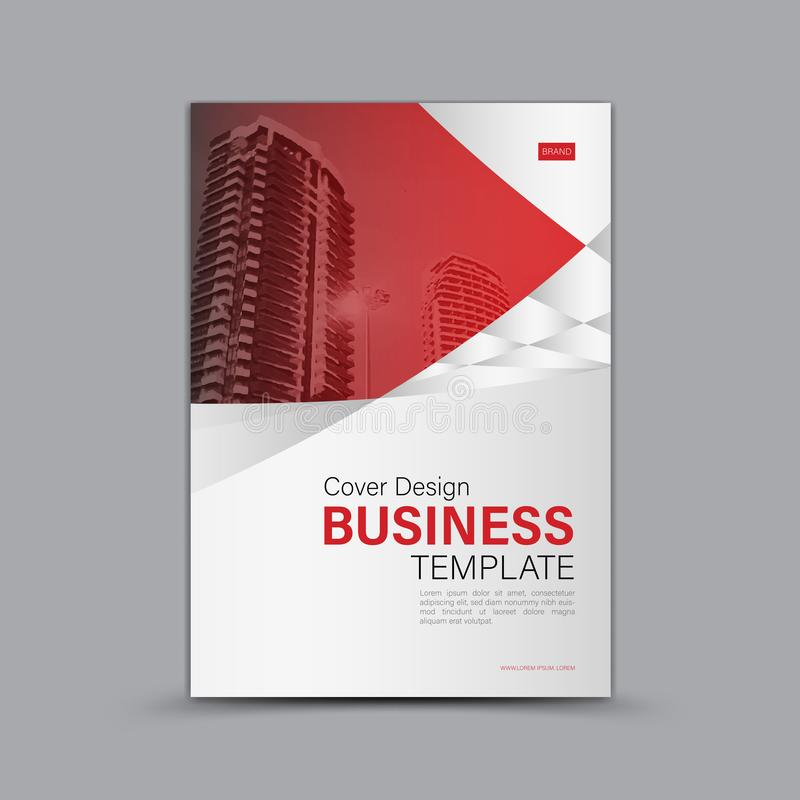 Cubra el diseño, plantilla del aviador del folleto del negocio, bandera, página web, cubierta de libro, anuncio, disposición de l libre illustration