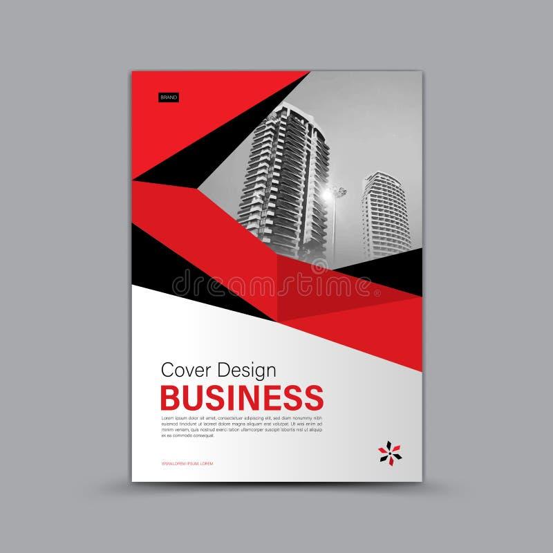 Cubra el diseño, plantilla del aviador del folleto del negocio, bandera, página web, cubierta de libro, anuncio, disposición de l stock de ilustración