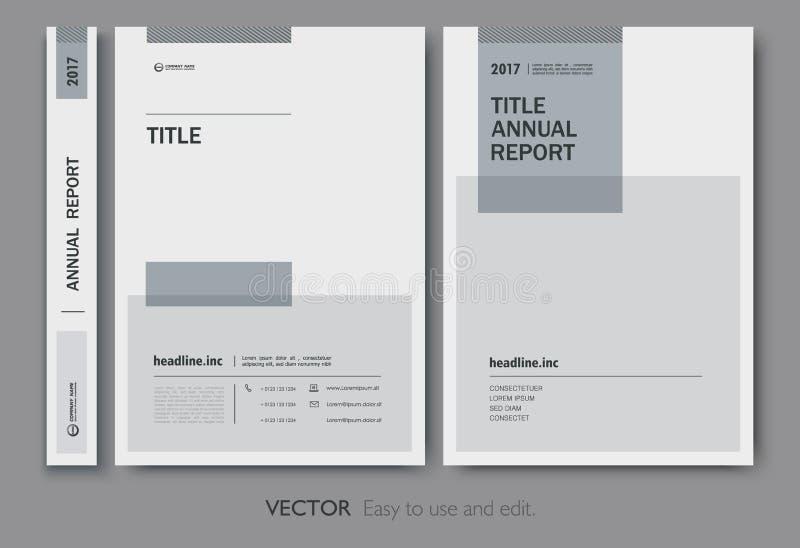 Cubra el informe annnual del diseño, aviador, presentación, folleto libre illustration