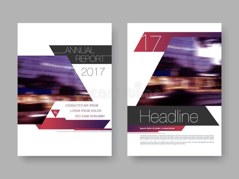 Cubra el informe annnual del diseño, aviador, presentación, folleto stock de ilustración