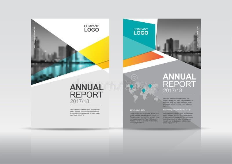 Cubra la plantilla del diseño, cubierta del informe anual, aviador, presentación, folleto stock de ilustración