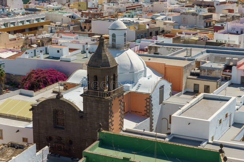Cubra los tops de Las Palmas, Gran Canaria, España fotografía de archivo libre de regalías