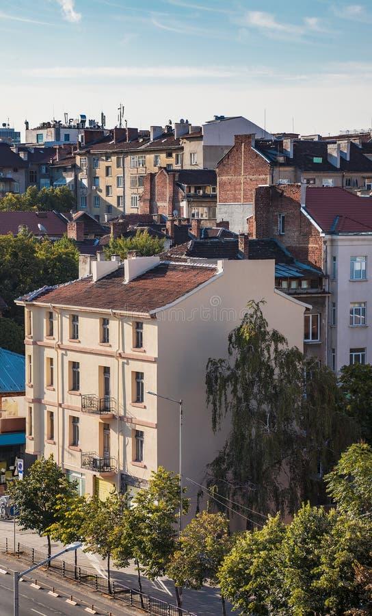 Cubre los edificios Sofia Bulgaria imagenes de archivo