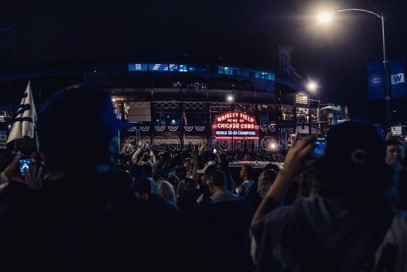 Cubs κερδίζουν την παγκόσμια σειρά στοκ εικόνες με δικαίωμα ελεύθερης χρήσης