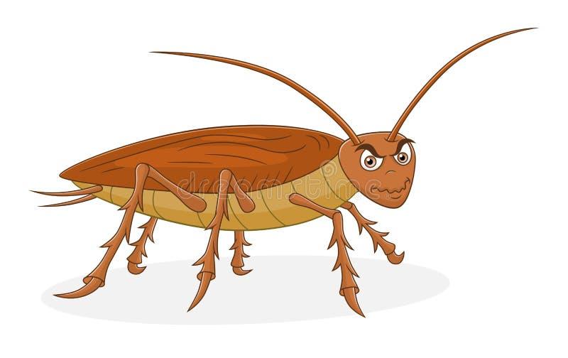 Cucaracha de la historieta stock de ilustración