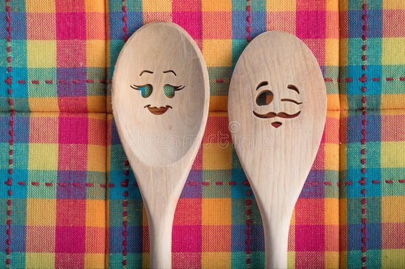 Cucchiai della cucina immagini stock