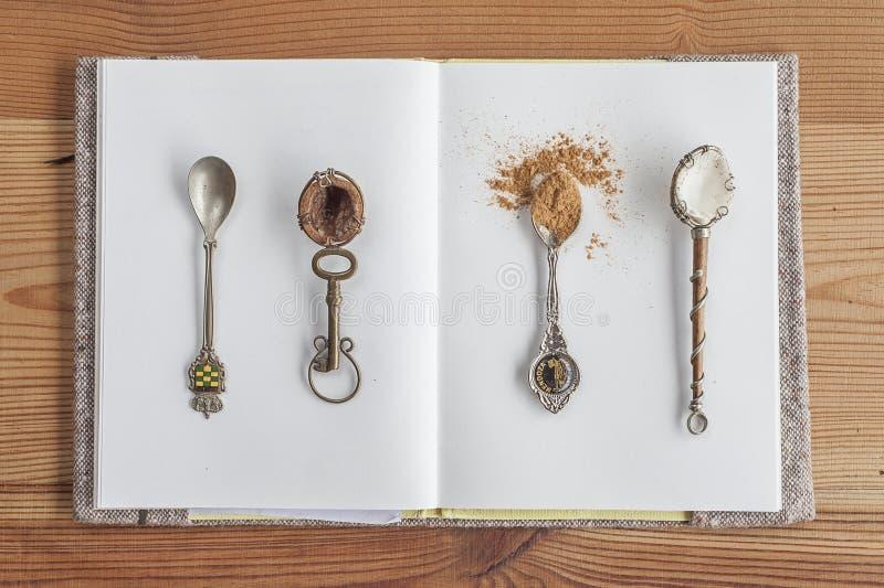Cucchiai in pieno delle spezie fotografie stock libere da diritti