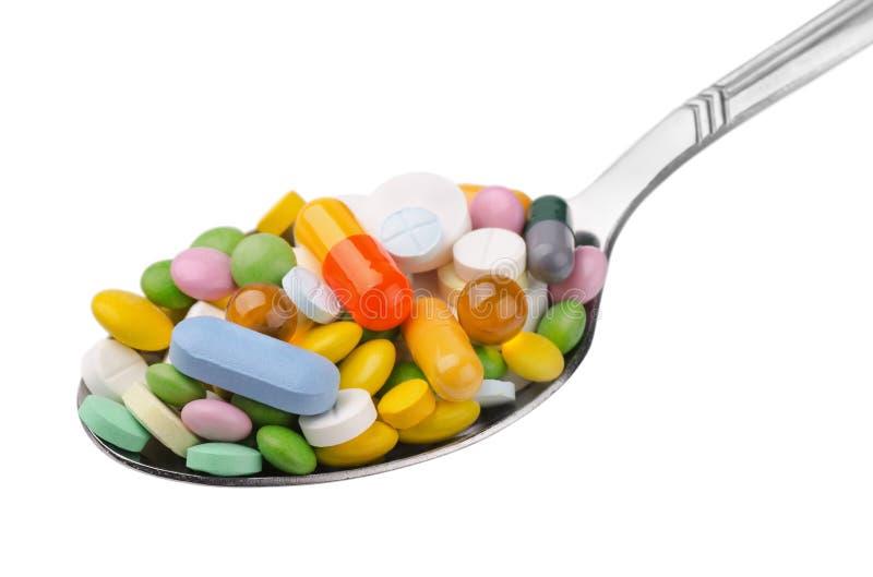 Cucchiaio delle droghe fotografia stock libera da diritti