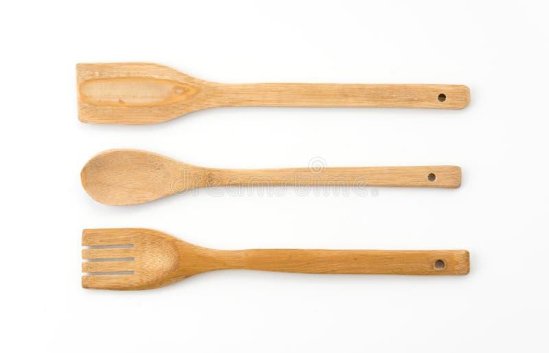 Cucchiaio di legno immagine stock libera da diritti
