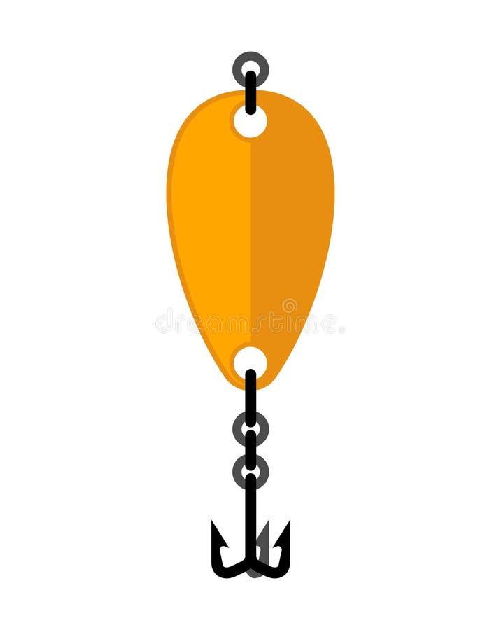 Cucchiaio di pesca isolato pescatore dell'esca Illustrazione di vettore illustrazione di stock