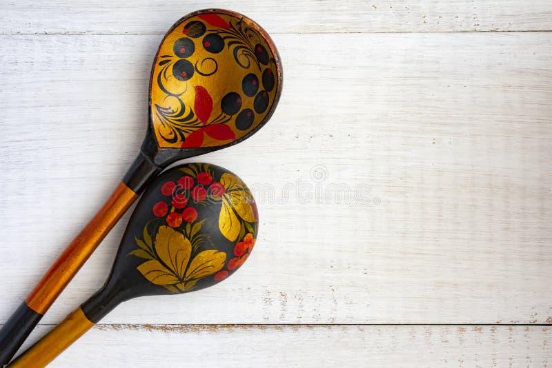 Cucchiaio russo di legno immagine stock libera da diritti