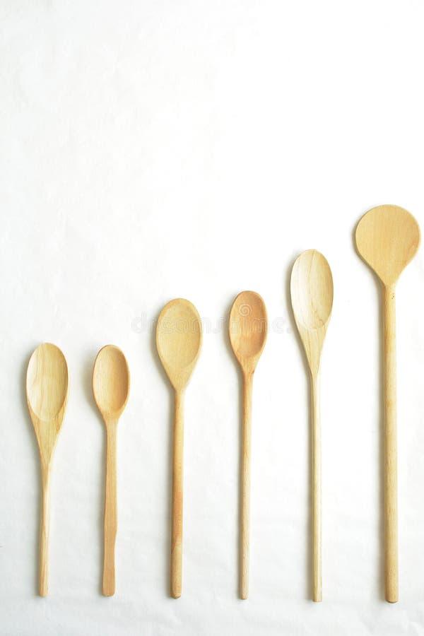 Cucchiaio vuoto su un fondo bianco fotografie stock
