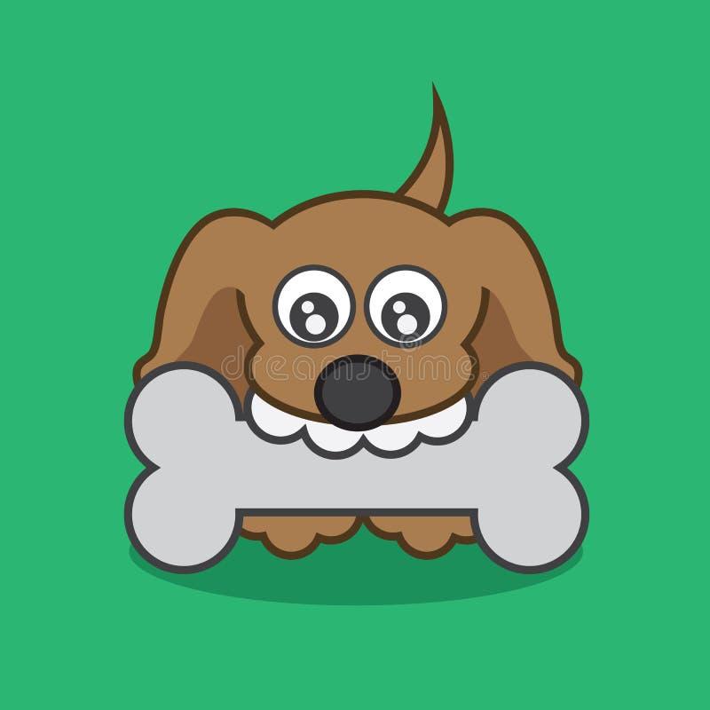 Cucciolo con un osso royalty illustrazione gratis