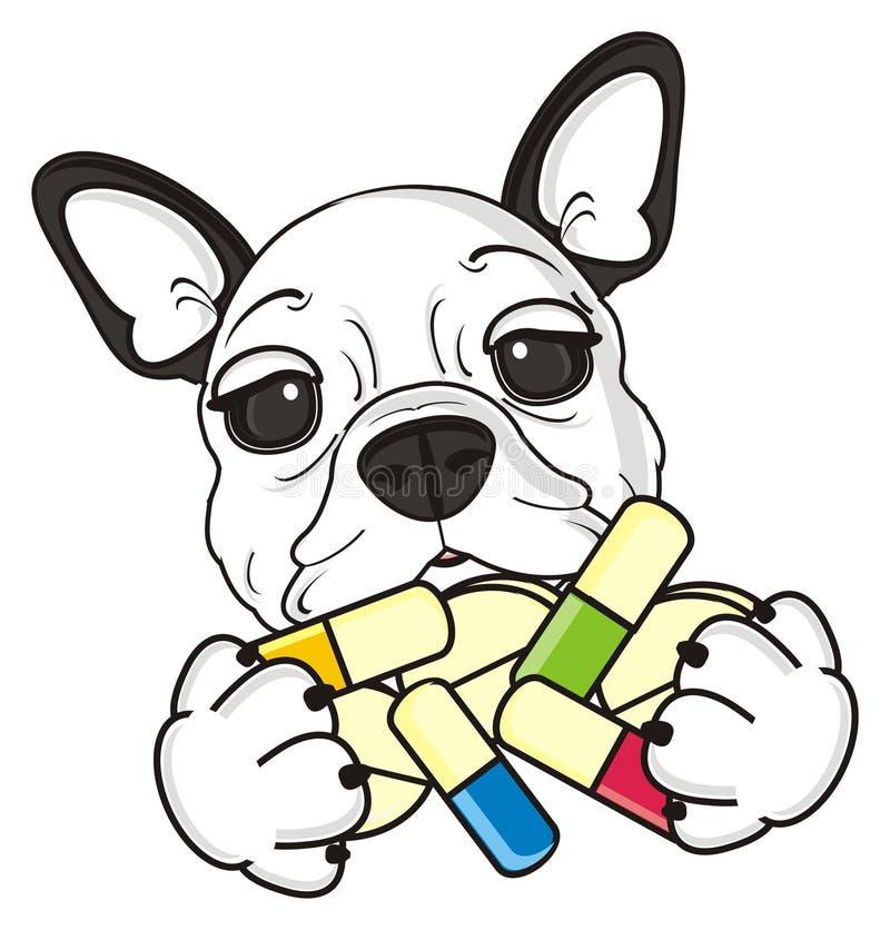 Cucciolo del bulldog francese illustrazione di stock