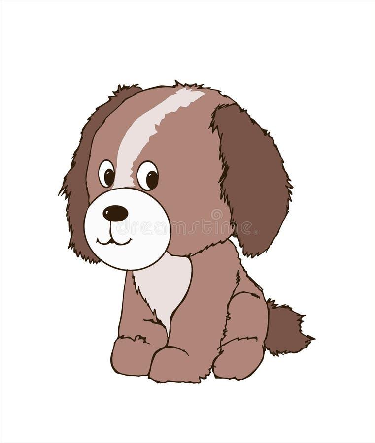 Cucciolo di cane amichevole sveglio, animale canino, regno animale, illustrazione, emblema della testa di cane, libro da colorare illustrazione vettoriale