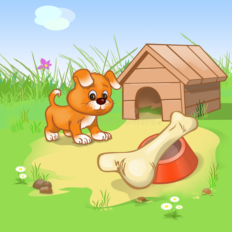 Cucciolo divertente illustrazione vettoriale