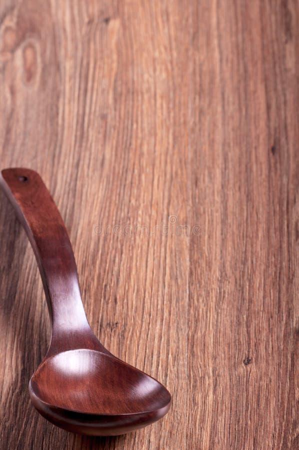Cuchara de madera roja del árbol foto de archivo libre de regalías