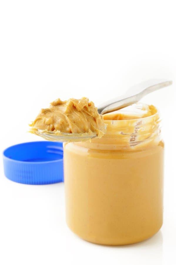 Cucharada de mantequilla de cacahuete imágenes de archivo libres de regalías