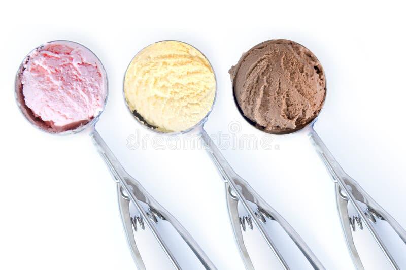 Cucharadas del helado foto de archivo libre de regalías