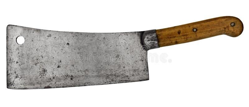 Cuchilla de carne de la vendimia foto de archivo