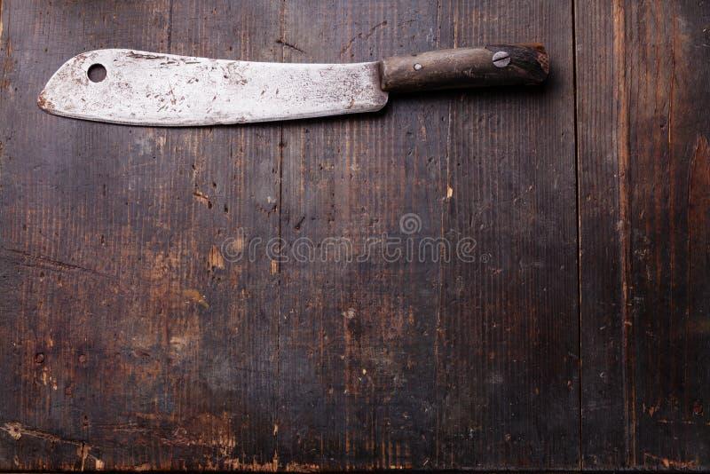 Cuchilla de carne del vintage foto de archivo libre de regalías