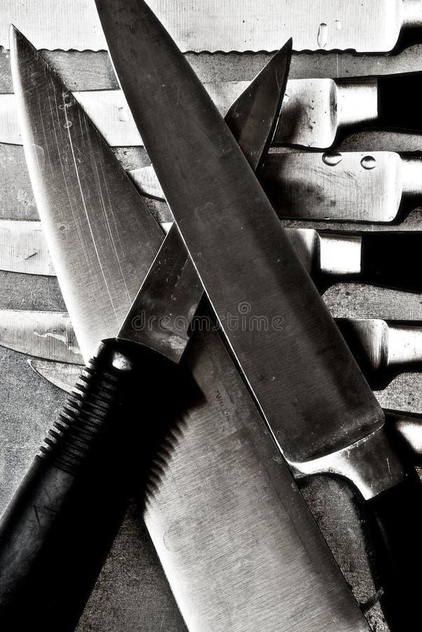 Cuchillas de cuchillo   imagen de archivo