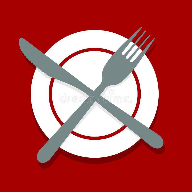 cuchillería ilustración del vector
