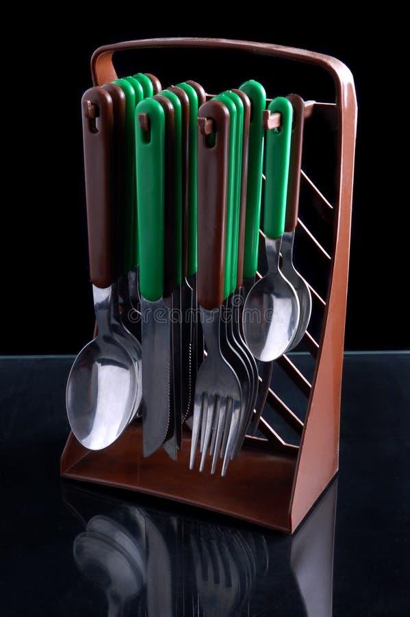Cuchillería de la cocina fotografía de archivo libre de regalías