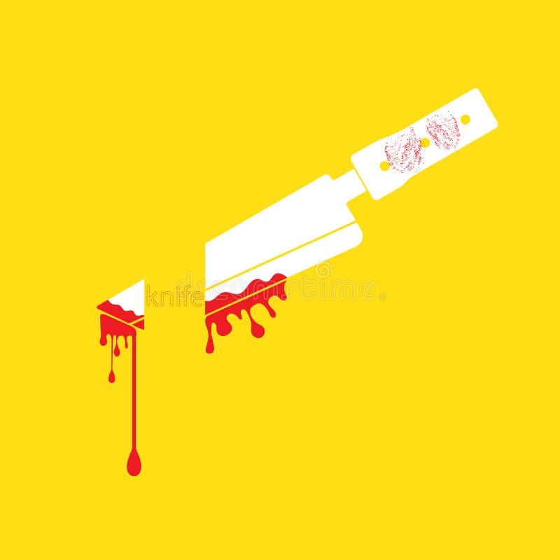 Cuchillo stock de ilustración