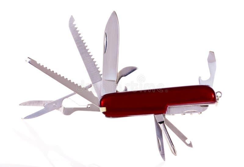 Cuchillo de ejército suizo fotografía de archivo