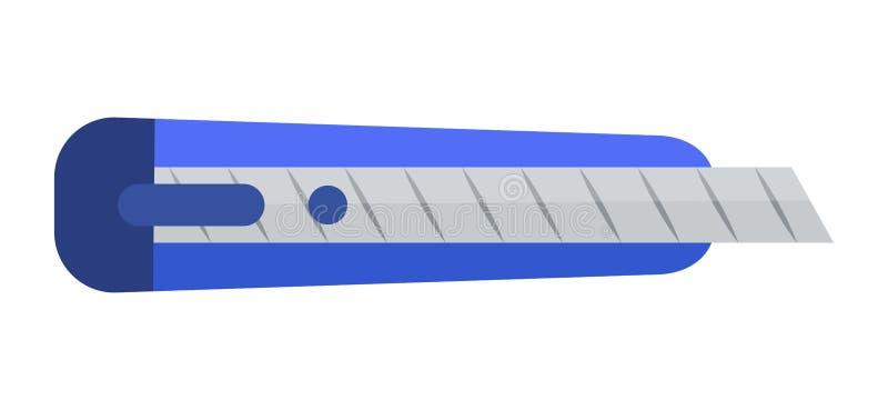 Cuchillo de los efectos de escritorio aislado en el fondo blanco ilustración del vector