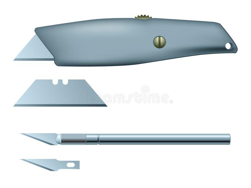 Cuchillo del arte y del utilitario ilustración del vector