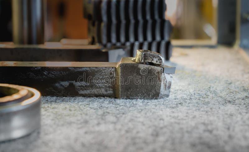 Cuchillo del torno del metal imagen de archivo