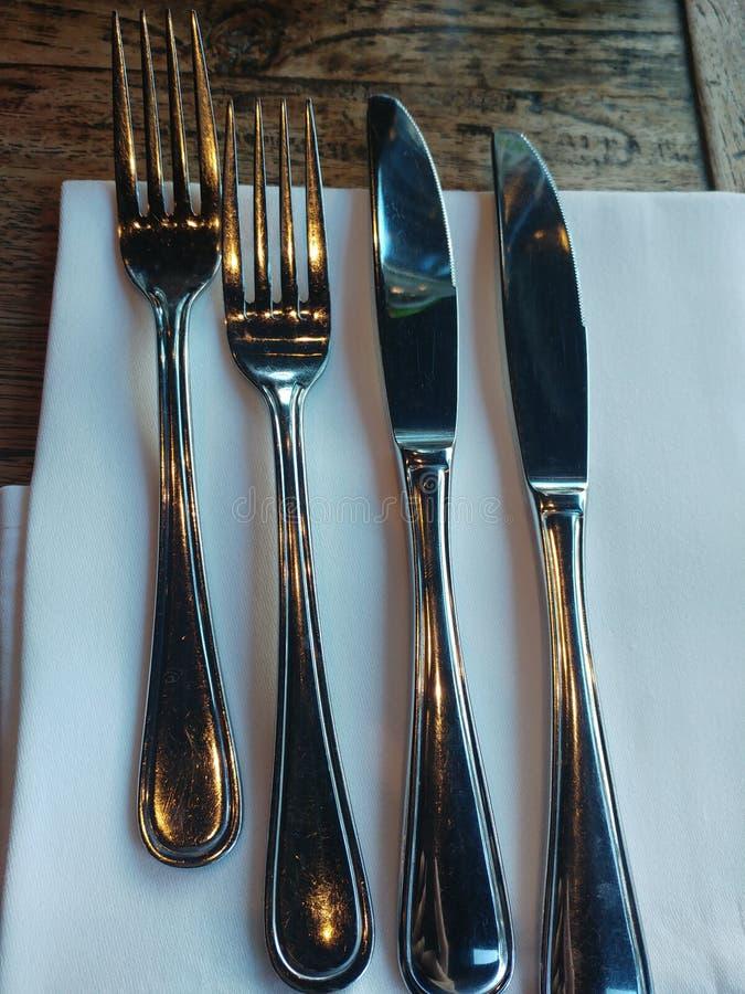 Cuchillo y bifurcación foto de archivo libre de regalías