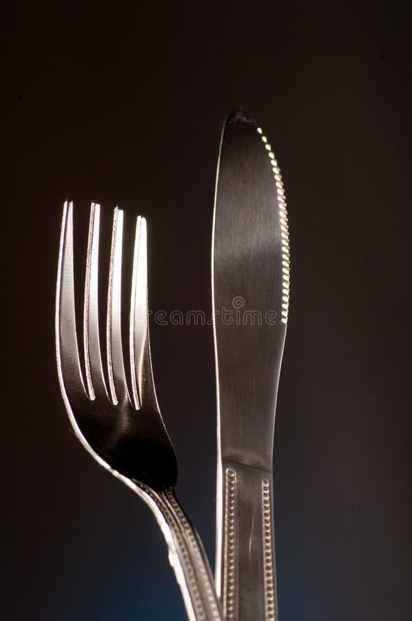 Cuchillo y fork imágenes de archivo libres de regalías
