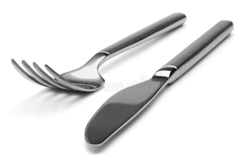 Cuchillo y fork. foto de archivo libre de regalías